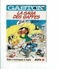 GASTON la Gaffe Franquin Saga des gaffes AGFA mini BD publicitaire 4