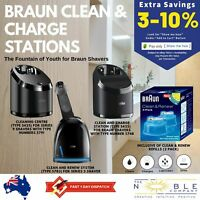 Braun Shaver Series 9 5 3 Clean & Renew Cleaning System Cleaner Charging Station