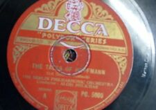 78 rpm BERLIN PHIL ORCH - ALOIS MELICHAR offenbach tales of hoffmann