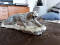 Porzellan-Figur Hutschenreuther Selb Ein Gruß von Puma Gunter Grange