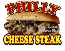 "Philly Cheese Steak Decal 14"" Cheesesteak Sub Sandwich Concession Food Truck"