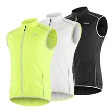 Men's Sleeveless Cycling Jacket Windproof MTB Bike Vest Sportswear Reflective