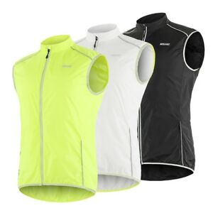 Men's Sleeveless Cycling Jacket Windproof MTB Bike Vest Sportswear Reflective
