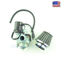 Carburetor & Air Filter Fits 2-Stroke Vento Zip Triton Avalanche 50 Scooter Carb