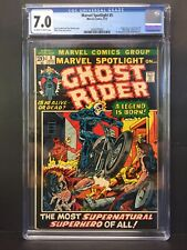 💎MARVEL SPOTLIGHT #5 CGC 7.0 1st APP/ORIGIN GHOST RIDER JOHNNY STORM & ROXANNE