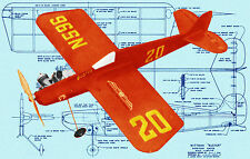 Build a C/L COODYEAR RACER Wittman Buster SCALE 1:8 Full Size Printed Plans