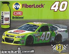 "2014 LANDON CASSILL ""K&W FIBER LOCK CRC "" #40 NASCAR SPRINT CUP POSTCARD"