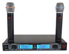 Rockville RWM2602UR Uhf Inalámbrico Dual recharageable sistema de micrófono de mano