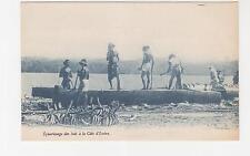 Ivory Coast, Wooden Equarissage, c1930 ppc.