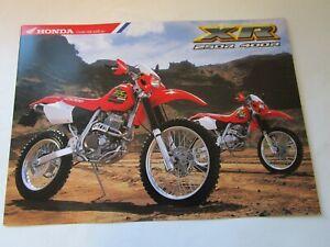 HONDA XR250R  XR400R  SALES BROCHURE