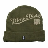 Men's Women's UNDEFEATED Play Dirty Fold Beanie Olive One Size (T70) $28