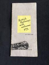 VINTAGE 1950'S BRITISH RAILWAYS CAREERS LEAFLET WITH MAP INSIDE
