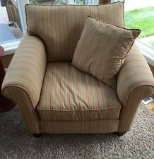 Two multi color Club Chairs by Alan White, Den, Study Classic Comfort--pickup--