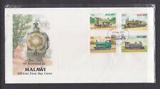 MALAWI 1987 RAILWAY SET ON FDC