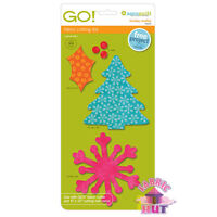 Accuquilt GO! Fabric Cutting Die Holiday Medley Snowflake Quilting Sewing 55043