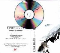 FORT HOPE Manne Of Lawe EP 2016 UK 4-track promo test CD