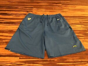 Nike Los Angeles CHARGERS On Field Sideline Shorts Blue AO3755-444. Men's Sz L