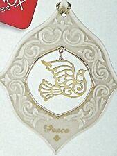 🎄 Lenox Peace Dove Ornament Porcelain Nib 🎄