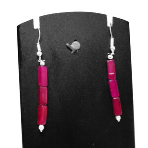 Best Quality 20.00 Cts Earth Mined Red Ruby Gemstone Beads Designer Earrings