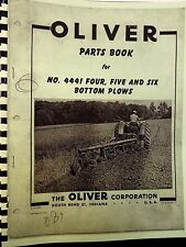 1960 Oliver Parts Book For # 4441 Four,Five & Six Bottom Plows Fully Illustrated