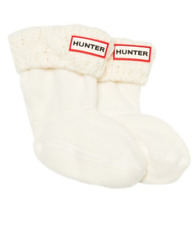 Hunter Girls White Cable Knit Welly Socks Sz XS 5-7 6809