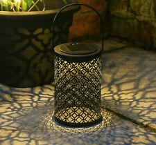 More details for solar power outdoor traditional led light up hanging damasque lantern   garden