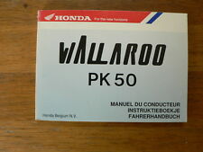 HONDA PK50 WALLAROO PK 50 1982 ? OWNERS MANUAL MOPED MOFA BROMFIETS BROMMER