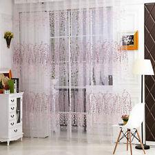 Transparent Schlaufenschal Gardinen Tür Fenster Voile Vorhang Dekoschal Neu