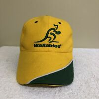 Wallabies Australia Rugby Supporters World Cup Yellow Green Adult Unisex Cap Hat