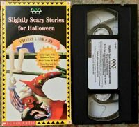 """Slightly Scary Stories For Halloween"" VHS Scholastic Weston Woods Video Library"