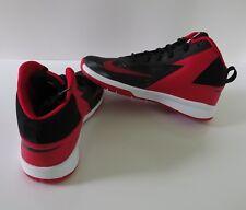 NIB NIKE Team Hustle D7 GS Size 6.5Y Boys Mens Basketball Shoes Black Red