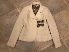 Girl Roberto Cavalli Cream Wool Smart Blaser Jacket Size 8-10 years RRP £540