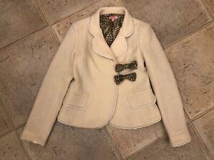 Roberto Cavalli Cream Wool Smart Blaser Jacket Size 8-10 years RRP £540