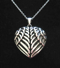 925 sterling silver BIG WINGS HEART pendant + 925 Sterling silver chain