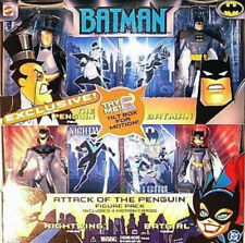 "Batman Animated Series Mattel ""Attack of the Penguin"" Batgirl Nightwing Set MISB"