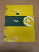 JOHN DEERE 20 ROUND BALE ACCUMULATOR OPERATORS MANUAL-PART NO. OME87315