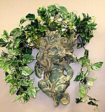 Large Vintage Antique Victorian Cherub Wall Planter Angel Eros Sculpture