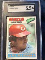 1977 Topps Johnny Bench #70 Cincinnati Reds SGC Grade 5.5 EX