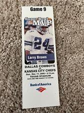 2005 Kansas City Chiefs Dallas  Cowboys 12/11 Football Ticket Larry Brown MVP