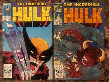 Incredible Hulk Vol 1 1988 Lot of 2 Marvel Comics #340 341 Clay Quartermain