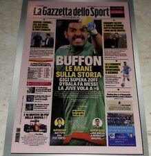 FIGURINA CALCIATORI PANINI 2016/17 GAZZETTA DELLO SPORT BUFFON 566 ALBUM 2017