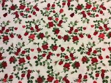 Timeless Treasures -  Small Red Roses Fabric - #GLAMOUR-C5047 - 100% Cotton