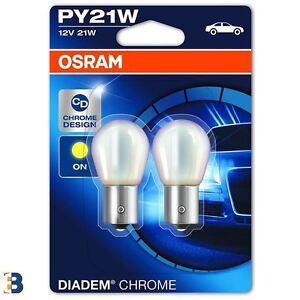 2x OSRAM PY21W Diadem Chrome PY21W 581 7507DC-02B Indicator Signal Bulbs BAU15S