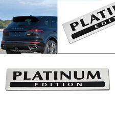 Car Grill Trunk Fender Aluminum PLATINUM EDITION Emblem Badge Sticker Decor