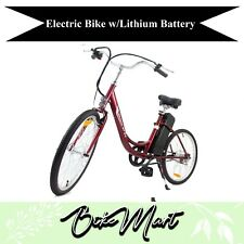 YT Electric Beach Cruiser Bicycle Battery Powered E-Bike Lithium Battery