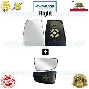 Mirror Glass Heated Upper Lower for 2014 2018 Ford Transit 150 250 Right Side