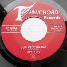 OFF KEYS silver burgundy TECHNICHORD vg+ Our Wedding Day b/w Singing Bells pc29