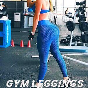 Women Elastic Leggings Push Up Yoga Pants Anti Cellulite Gym Ruched Butt Lift RL