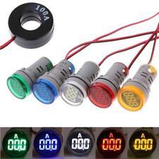 NEW 5PcsAC22mm Digital Display Ampermeter Monitor Current Indicator Signal Light