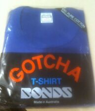 Bonds Gotcha Vintage Australian Made Shirt Navy Blue Medium